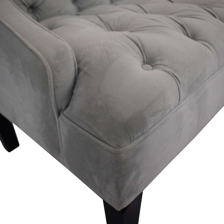 Skyline Furniture Skyline Furniture Grey Tufted Loveseat nj
