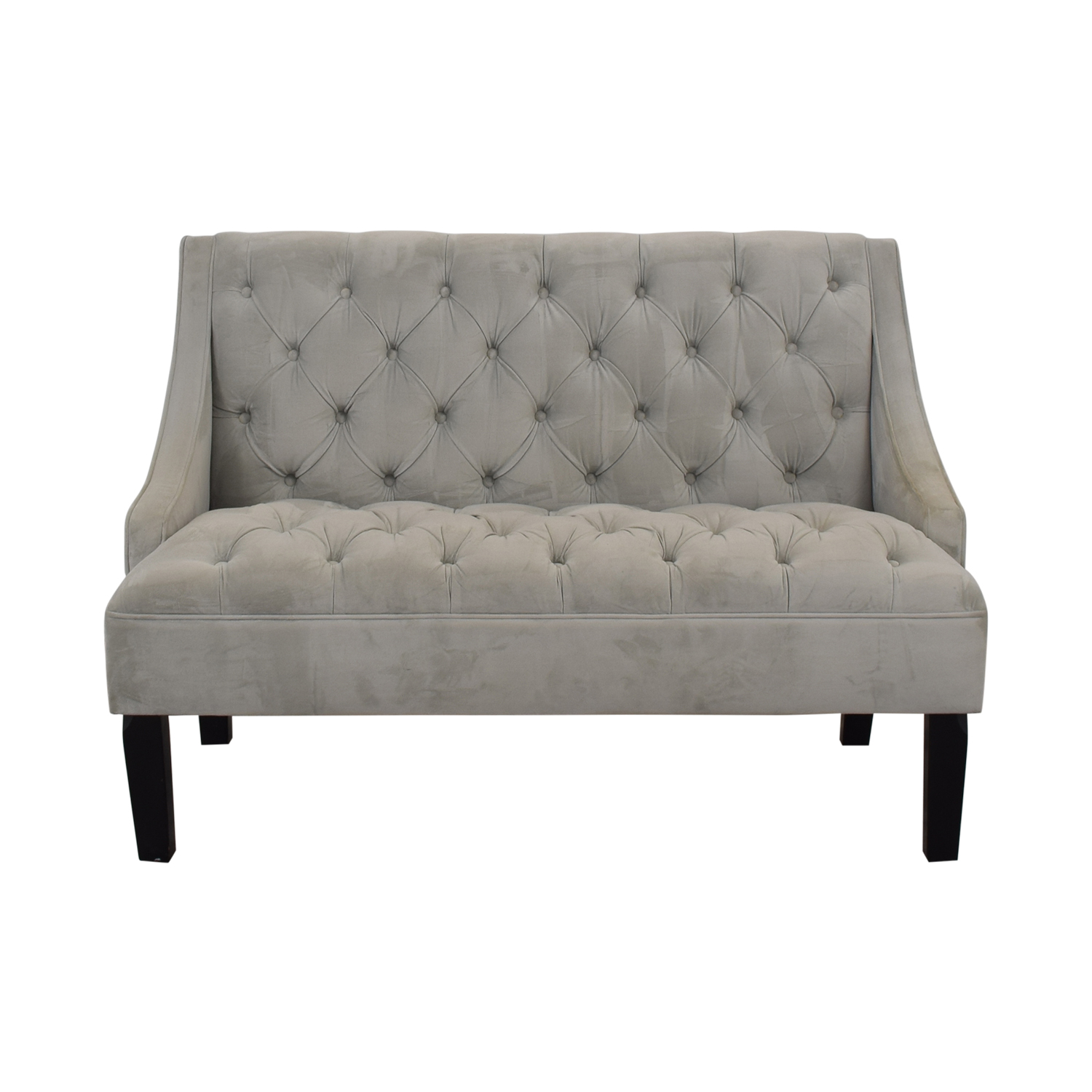 shop Skyline Furniture Skyline Furniture Grey Tufted Loveseat online