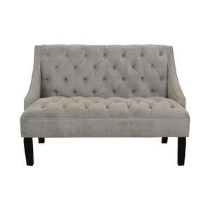 Skyline Furniture Skyline Furniture Grey Tufted Loveseat on sale