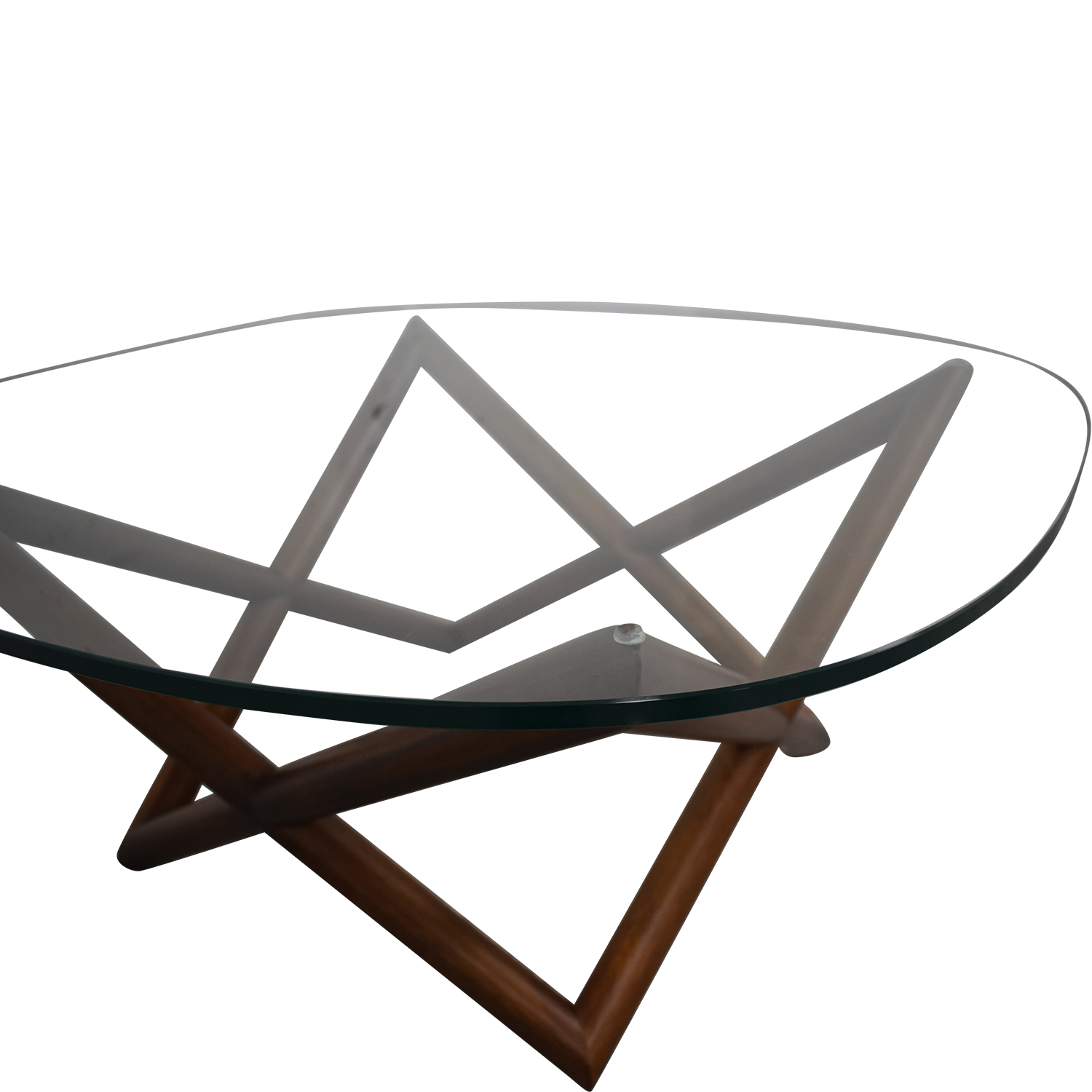 West Elm West Elm Spindle Glass Coffee Table dimensions