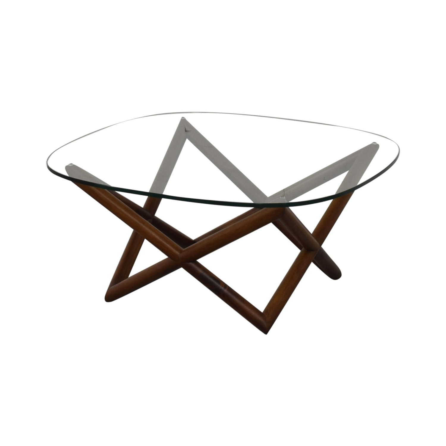 West Elm West Elm Spindle Glass Coffee Table on sale