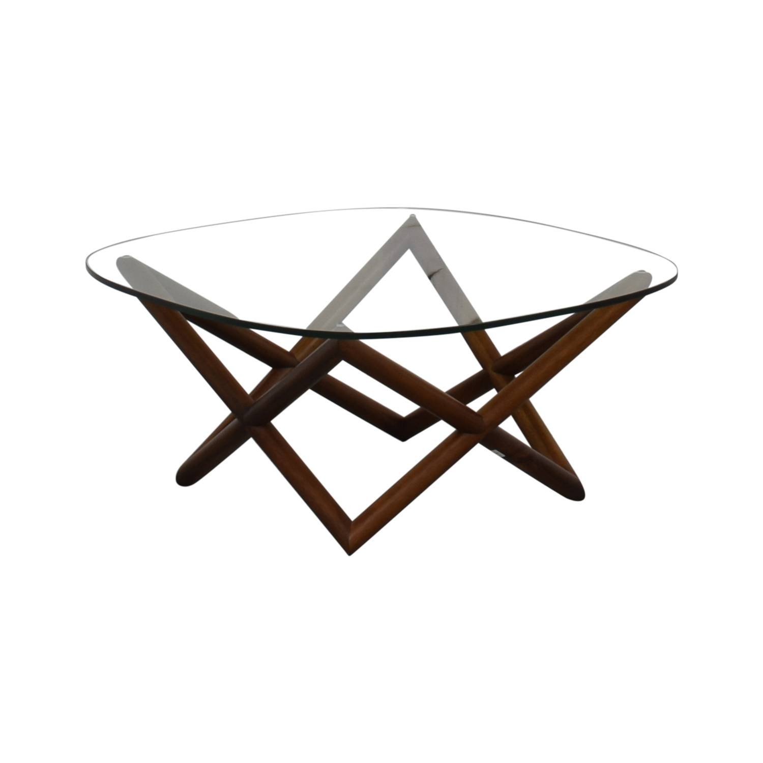 West Elm West Elm Spindle Glass Coffee Table