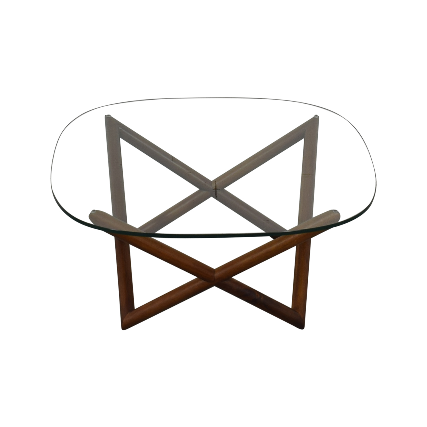 West Elm Spindle Glass Coffee Table / Coffee Tables