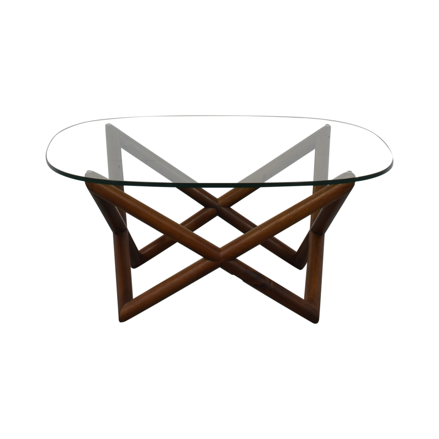 3% OFF - West Elm West Elm Spindle Glass Coffee Table / Tables