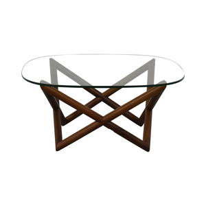 West Elm West Elm Spindle Glass Coffee Table nyc