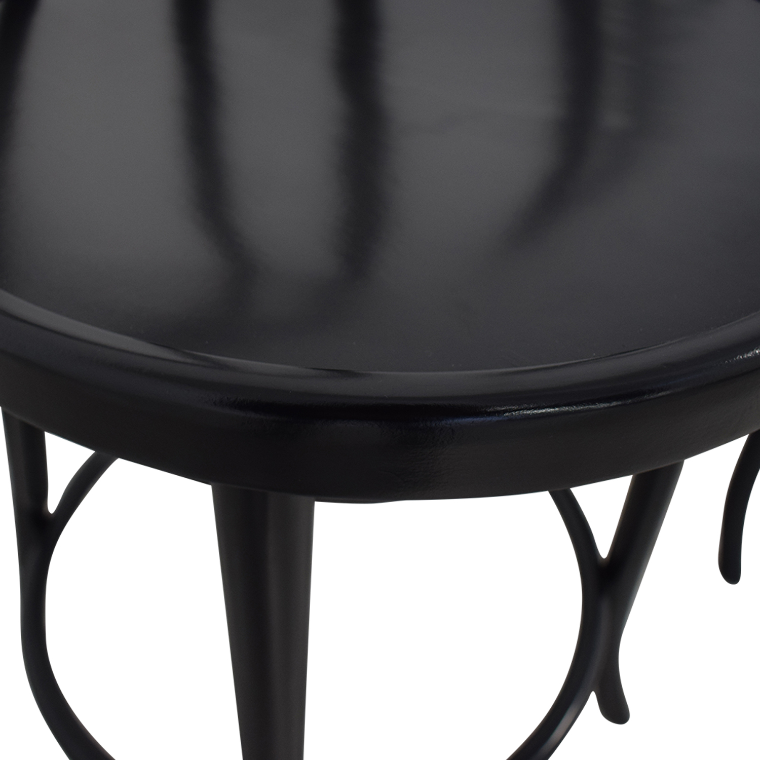 Crate & Barrel Crate & Barrel Vienna Black Matte Counter Stools price