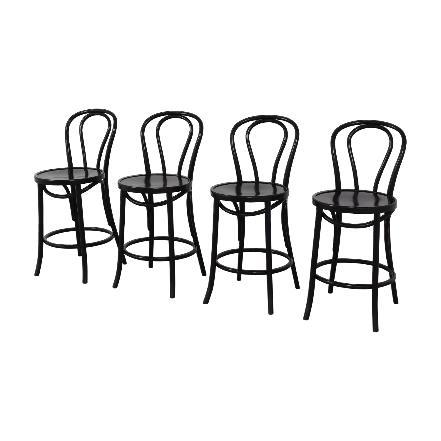 Crate & Barrel Crate & Barrel Vienna Black Matte Counter Stools black
