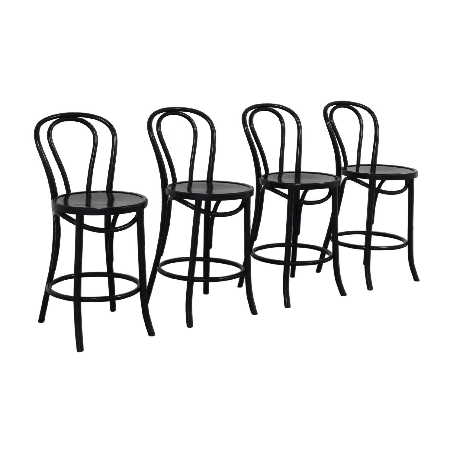 Crate & Barrel Crate & Barrel Vienna Black Matte Counter Stools on sale