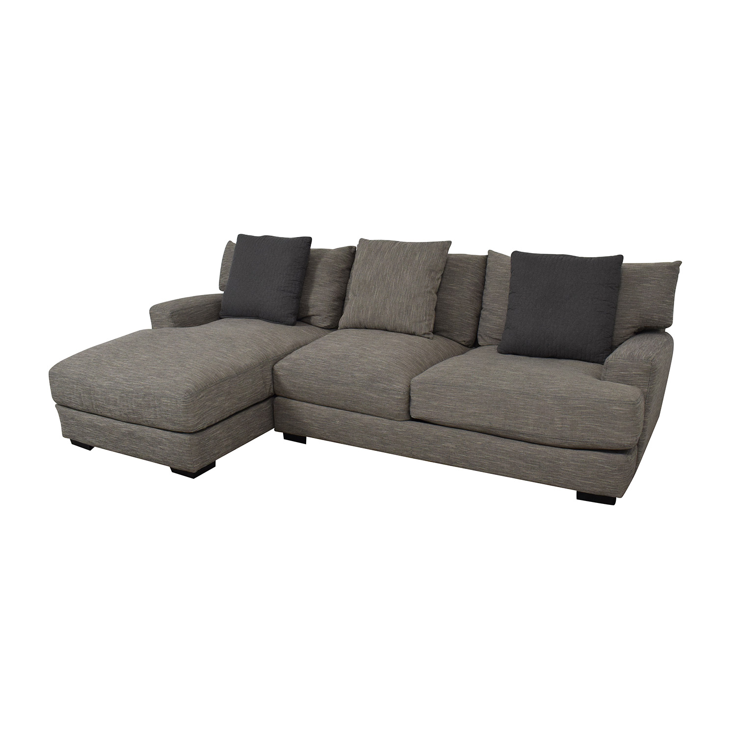 Raymour & Flanigan Raymour & Flanigan Leighton Two-Piece Sectional Sofa nj