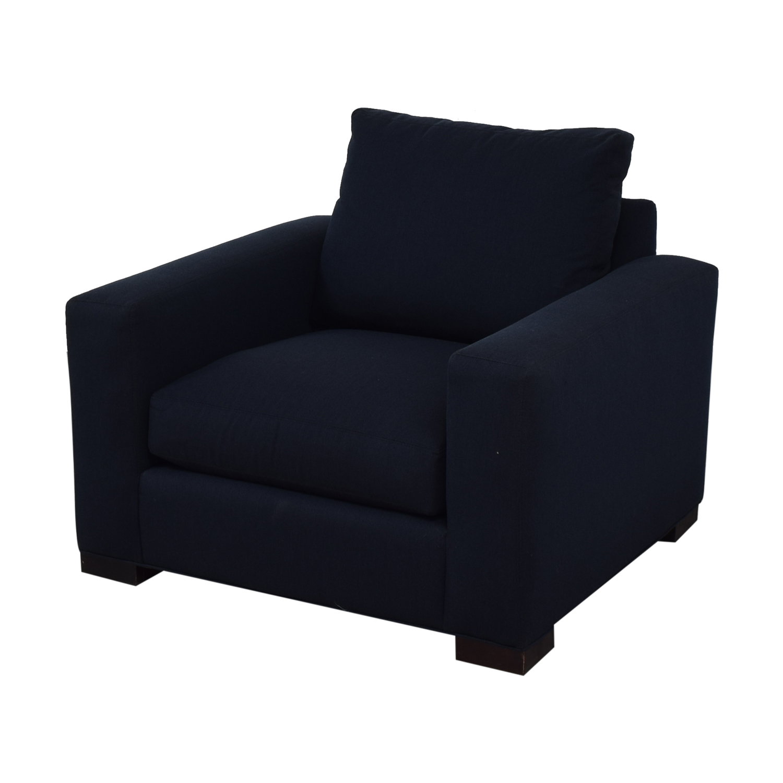 Room & Board Room & Board Blue Accent Armchair nj