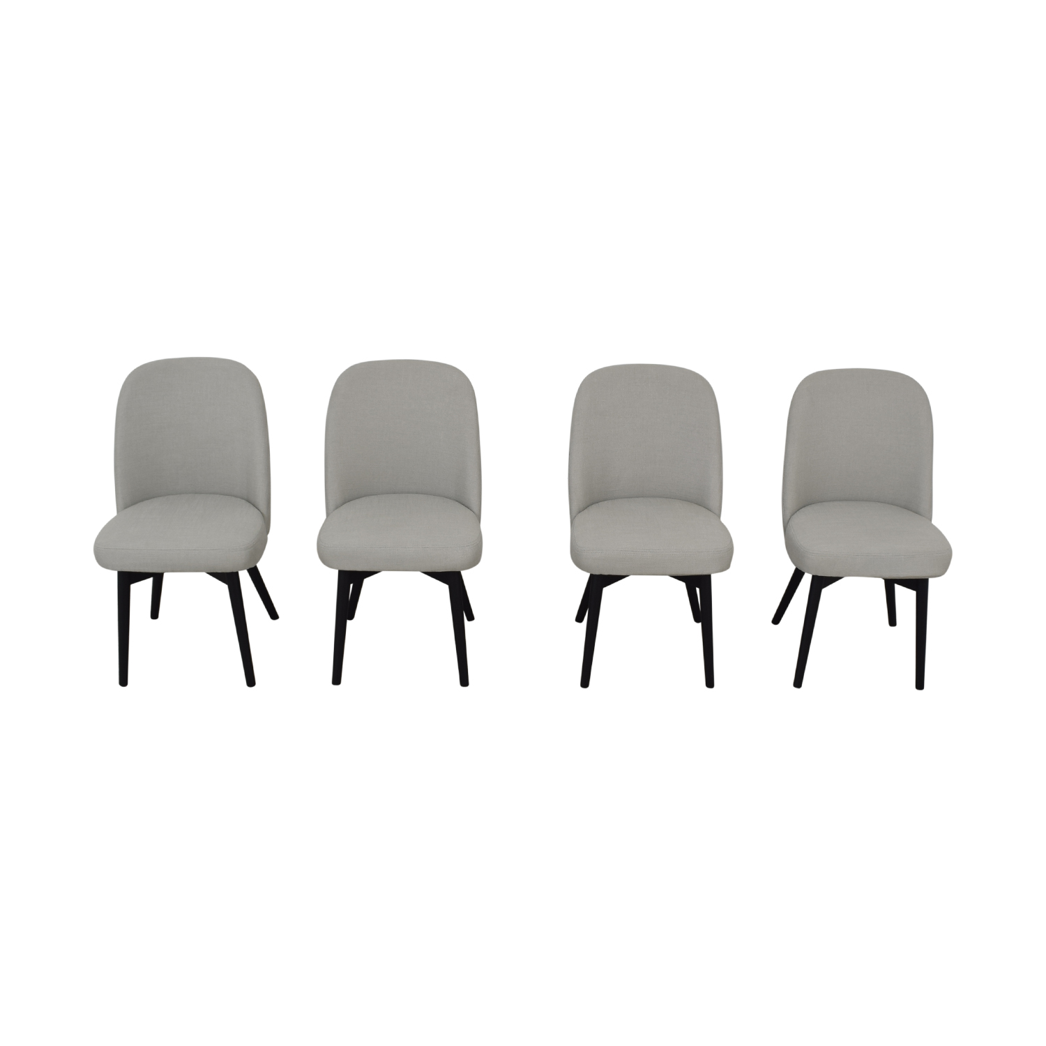 Interior Define Dylan Grey Dining Chairs nj