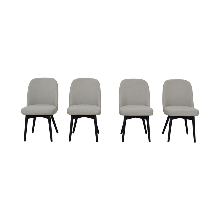 Interior Define Dylan Grey Dining Chairs second hand