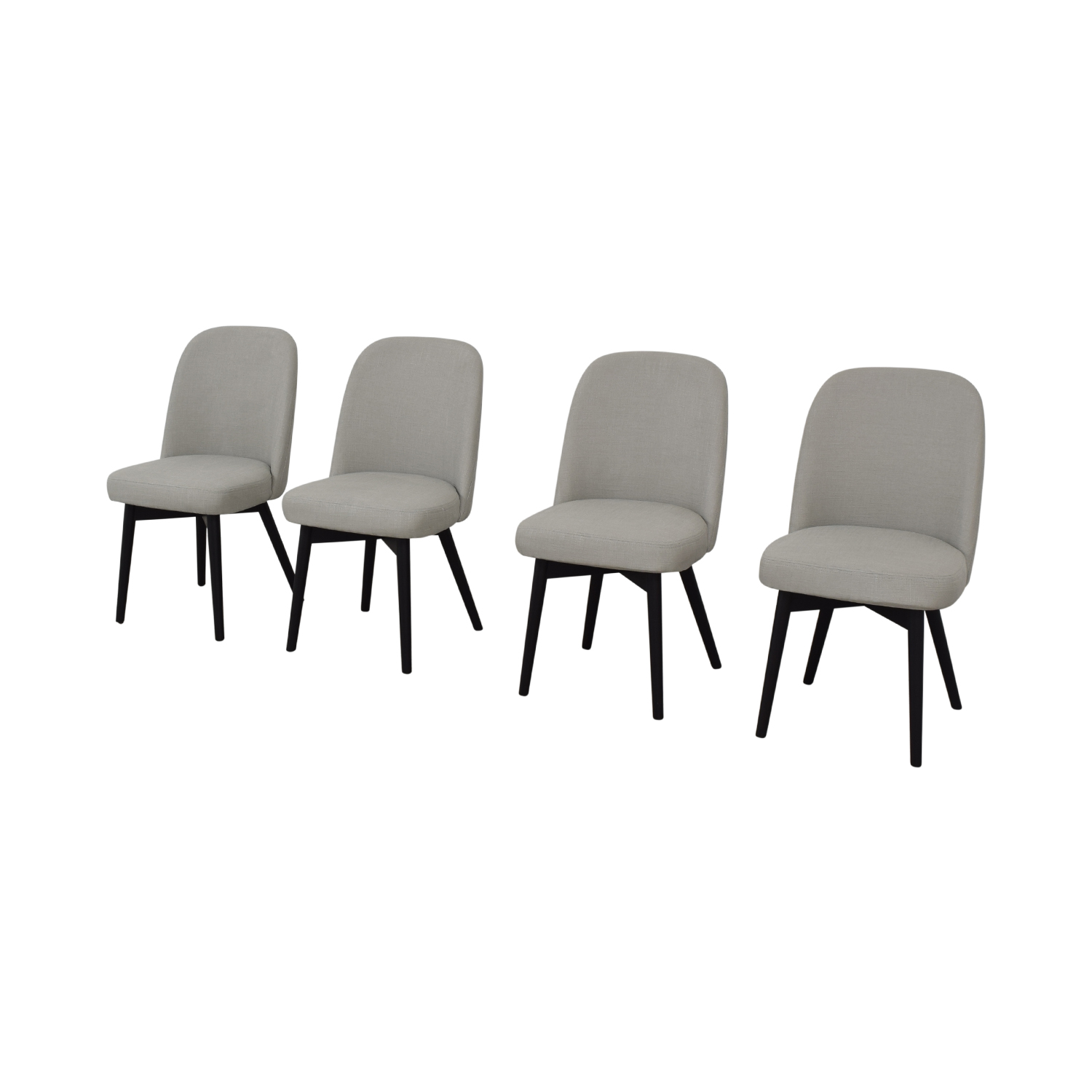 Interior Define Dylan Grey Dining Chairs for sale