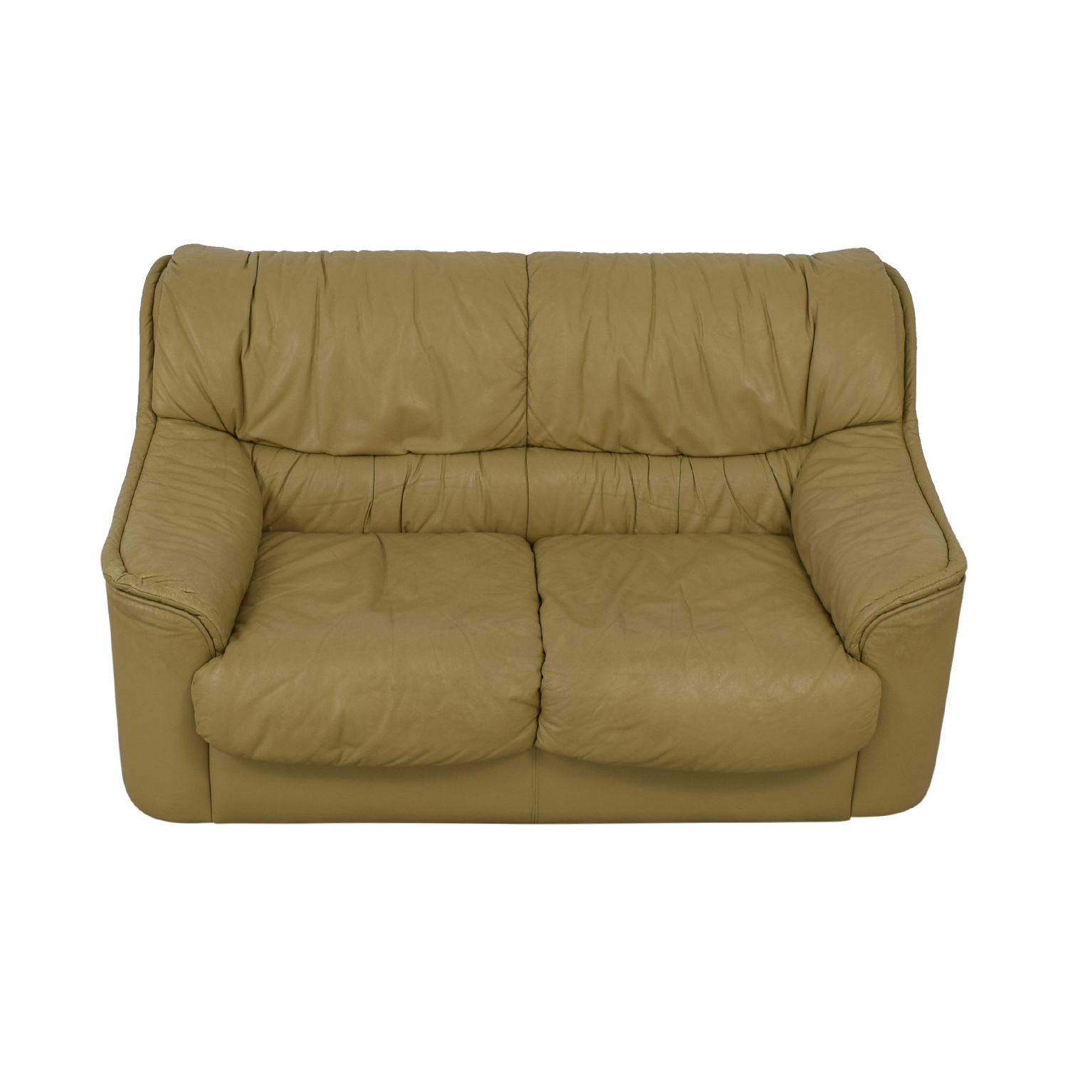 Taupe Two-Cushion Sofa on sale