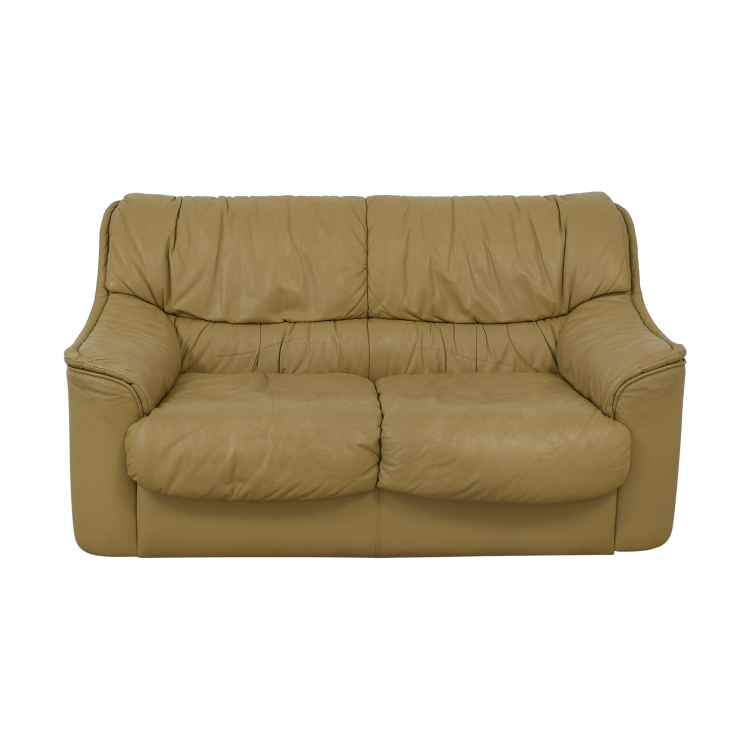 Taupe Two-Cushion Sofa dimensions