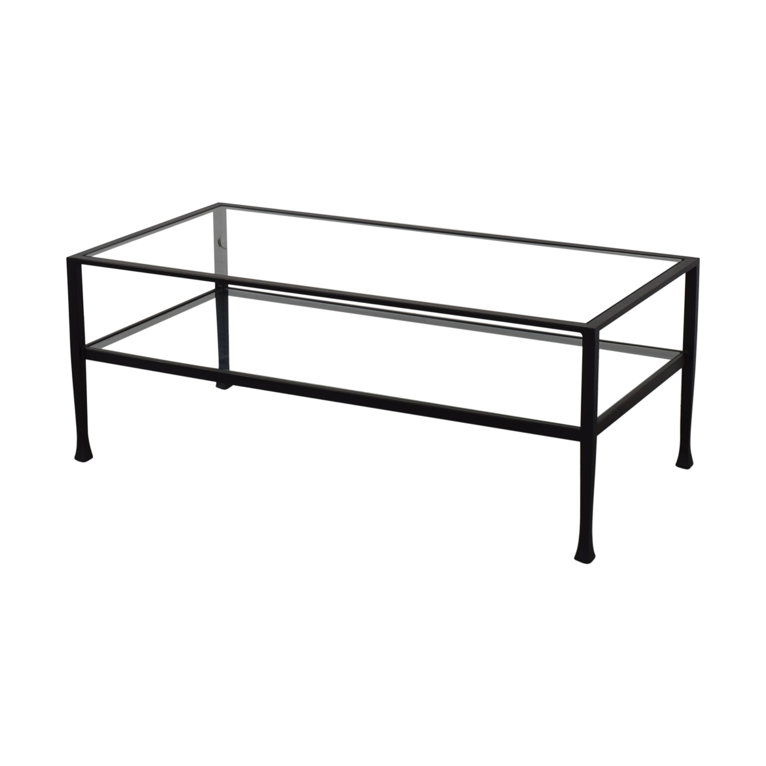 Pottery Barn Pottery Barn Tanner Rectangular Coffee Table Glass / Black