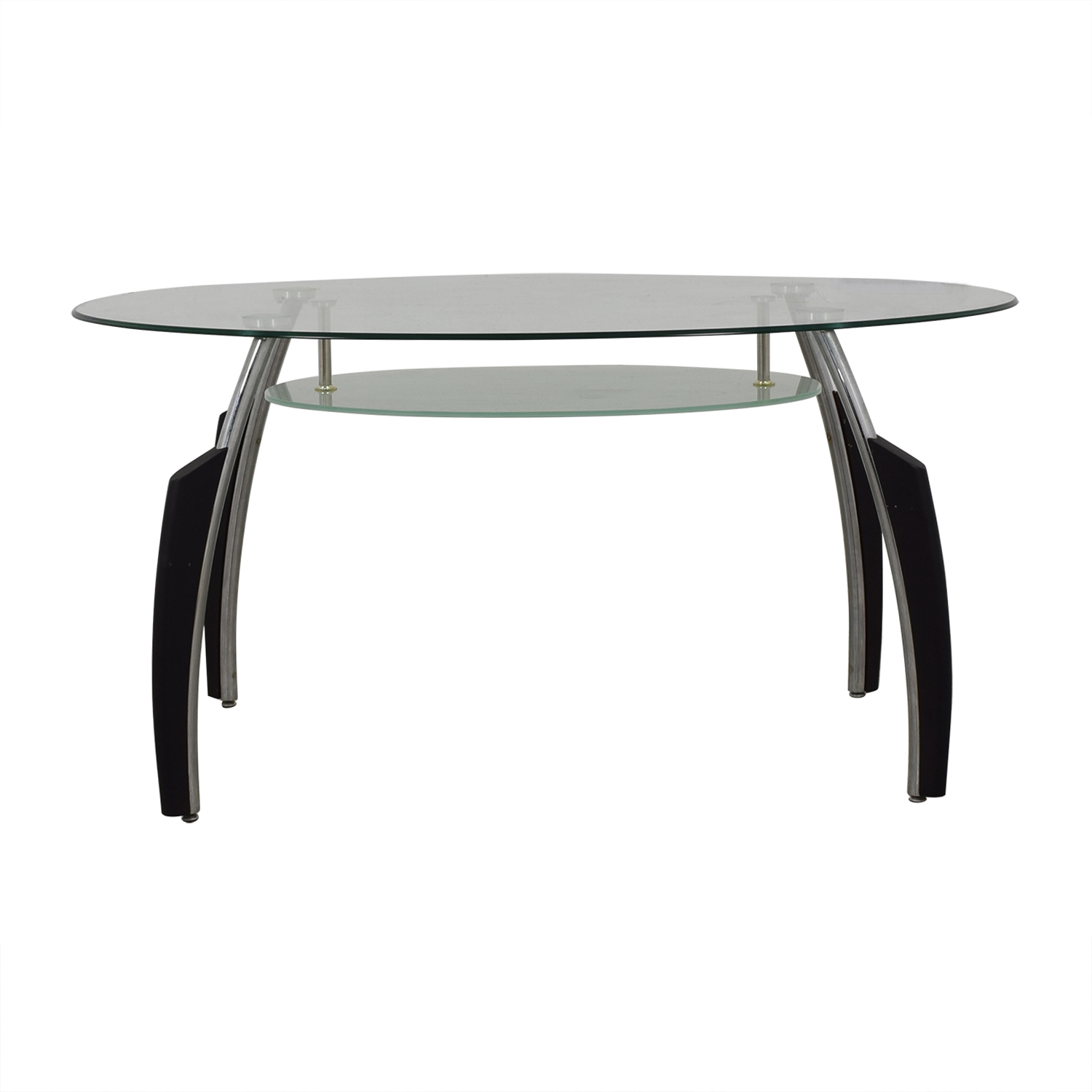 buy AE Furniture Glass and Chrome Dining  Dinner Tables