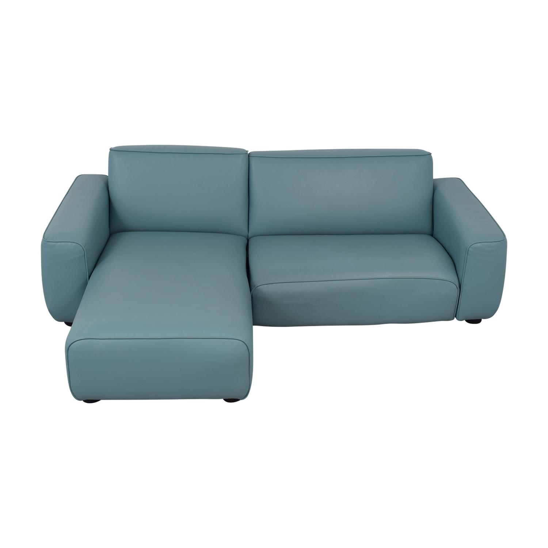IKEA Light Blue Pleather Sectional sale