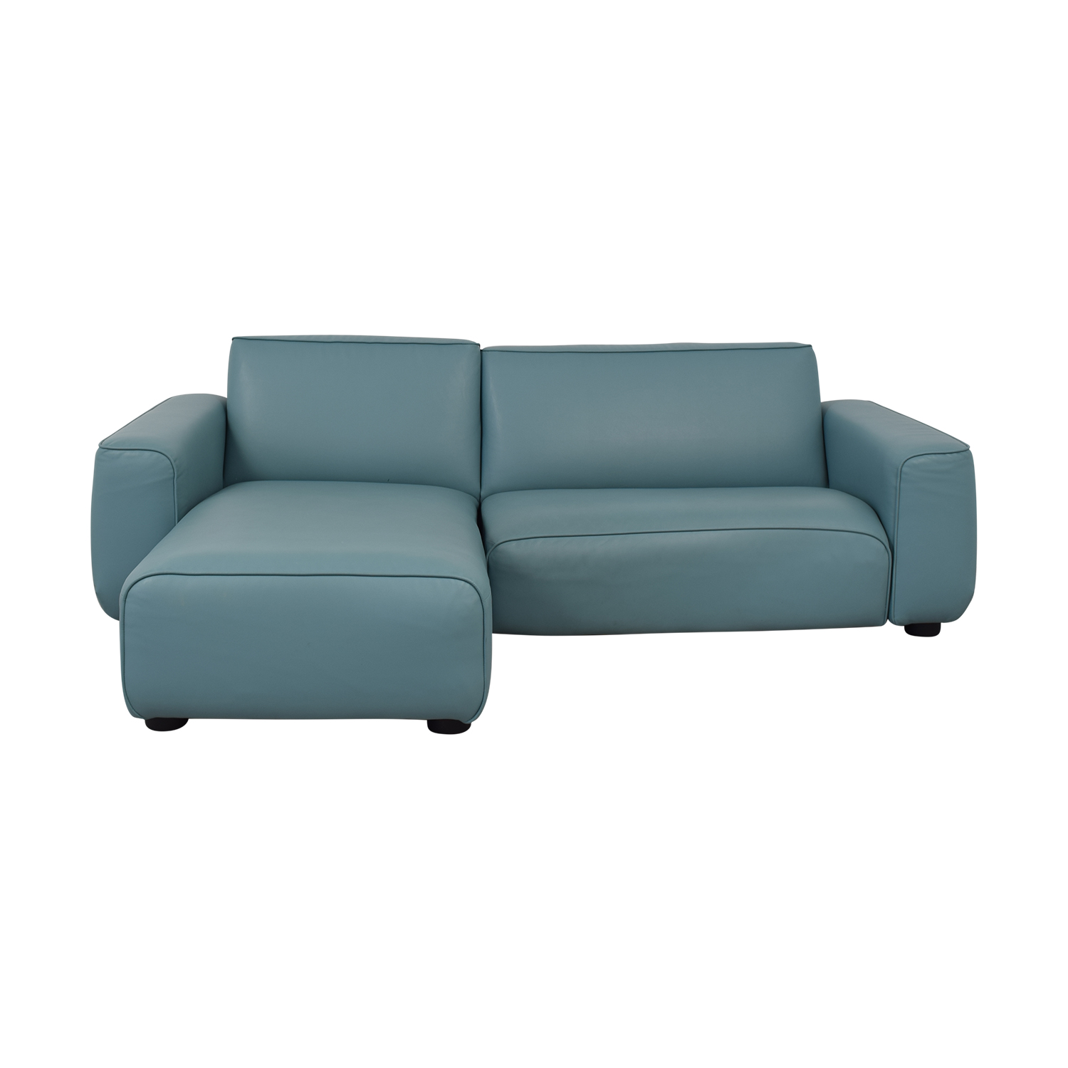 IKEA IKEA Light Blue Pleather Sectional coupon