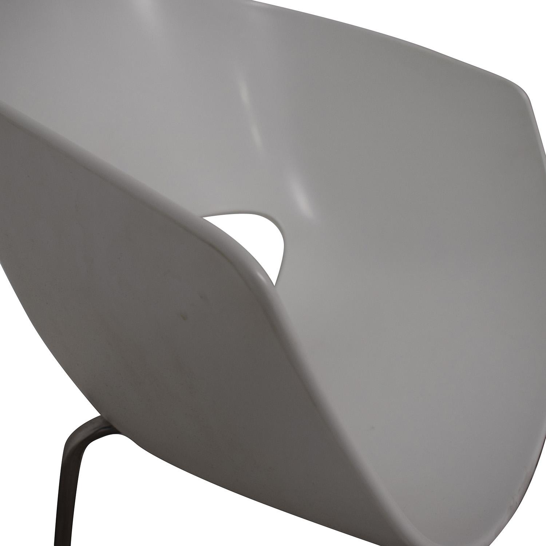 CB2 Cb2 Orbit White Arm Chair