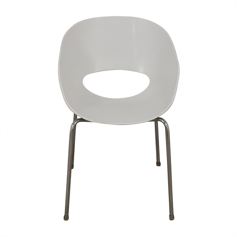 CB2 Cb2 Orbit White Arm Chair dimensions