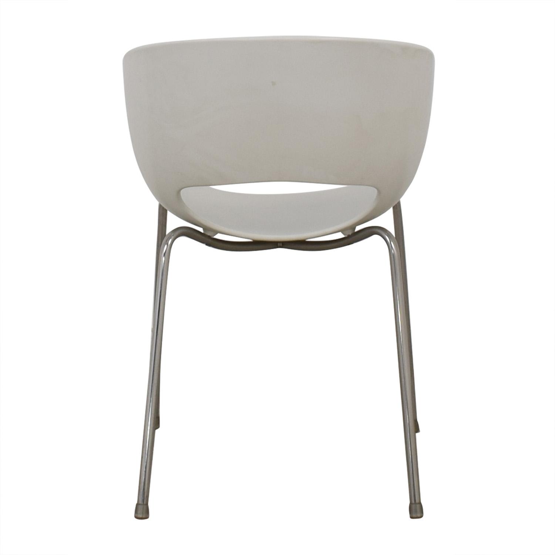 shop CB2 Cb2 Orbit White Arm Chair online