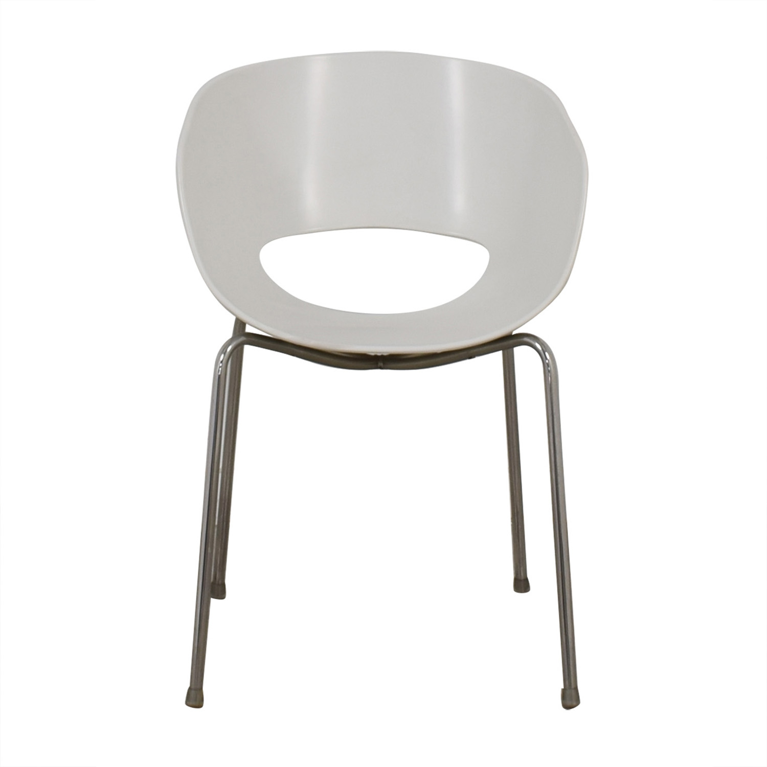 shop Cb2 Orbit White Arm Chair CB2 Chairs