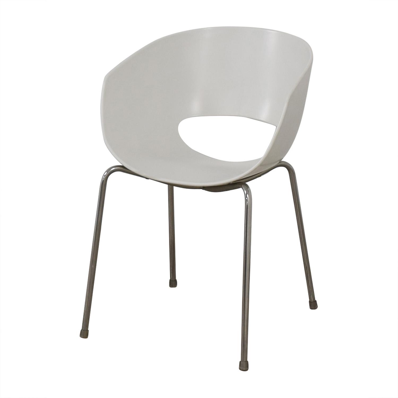 CB2 Cb2 Orbit White Arm Chair coupon