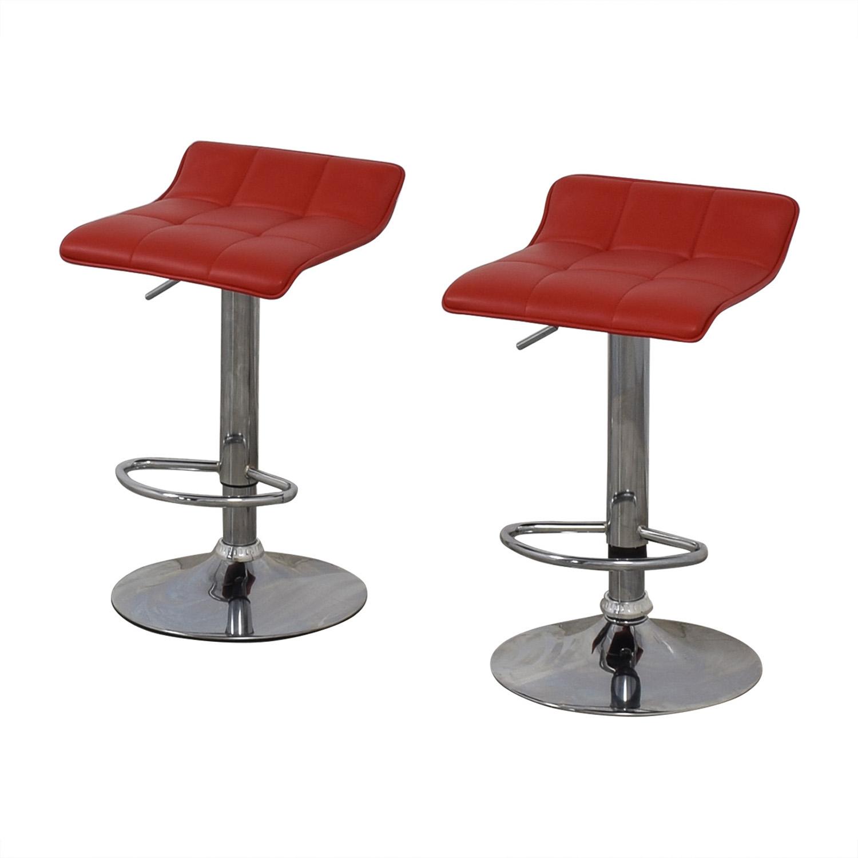Wayfair Wayfair Red Adjustable Barstools discount