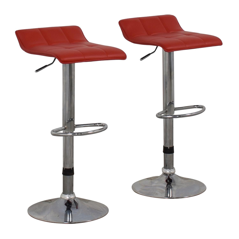 Wayfair Wayfair Red Adjustable Barstools Chairs
