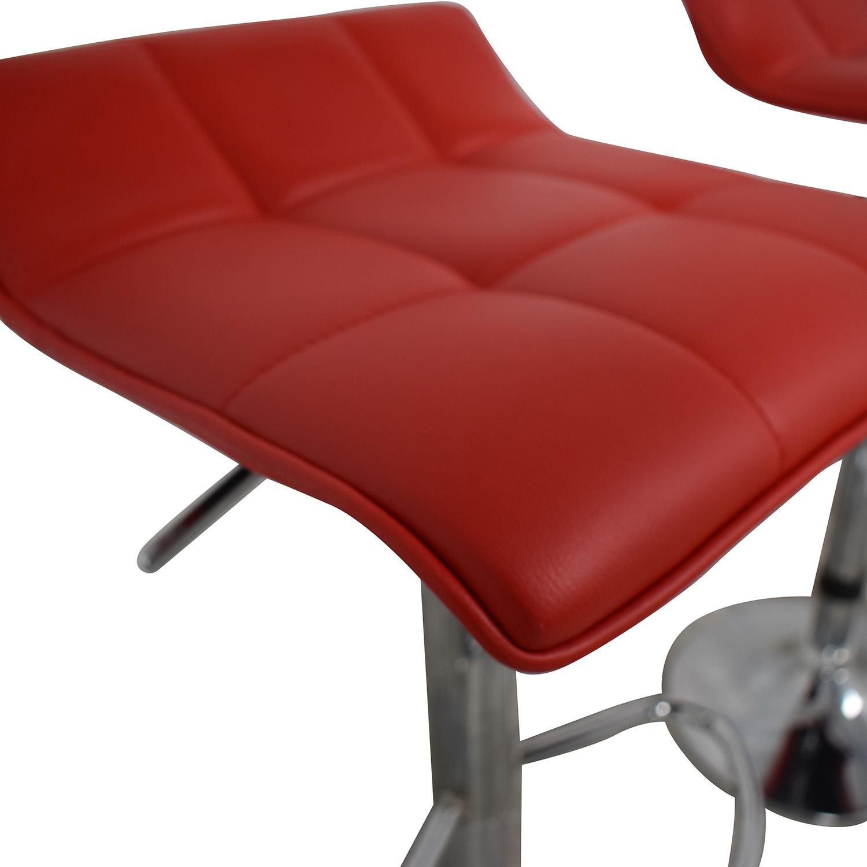 Wayfair Wayfair Red Adjustable Barstools Stools