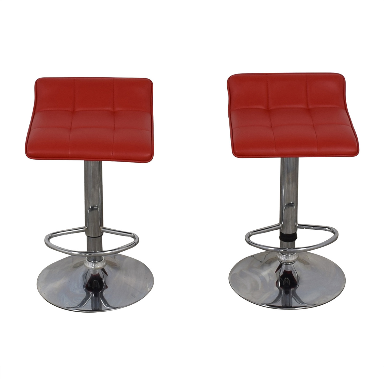 Wayfair Red Adjustable Barstools / Stools