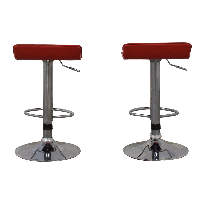 Wayfair Wayfair Red Adjustable Barstools nj