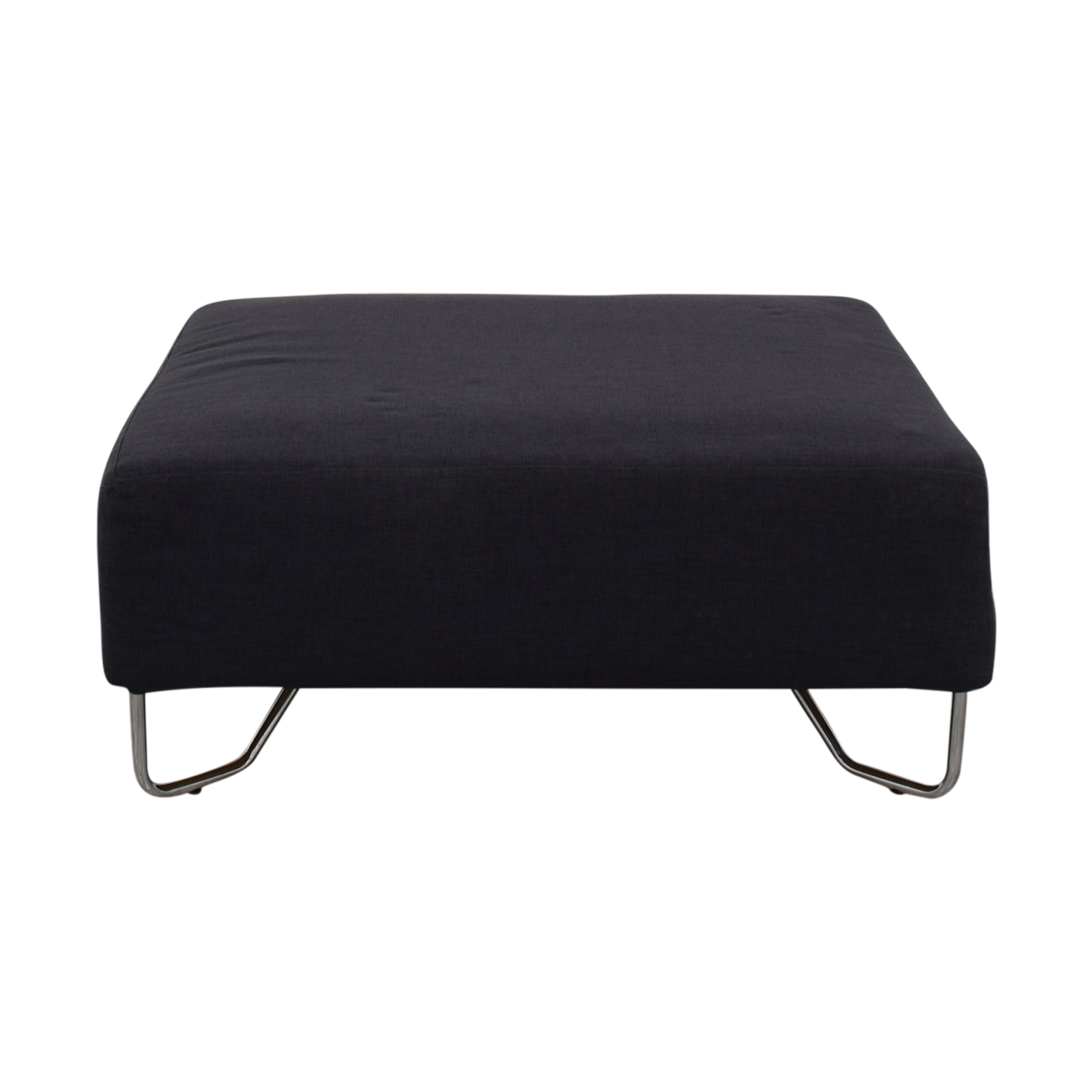 buy CB2 Lotus Navy Ottoman CB2 Ottomans