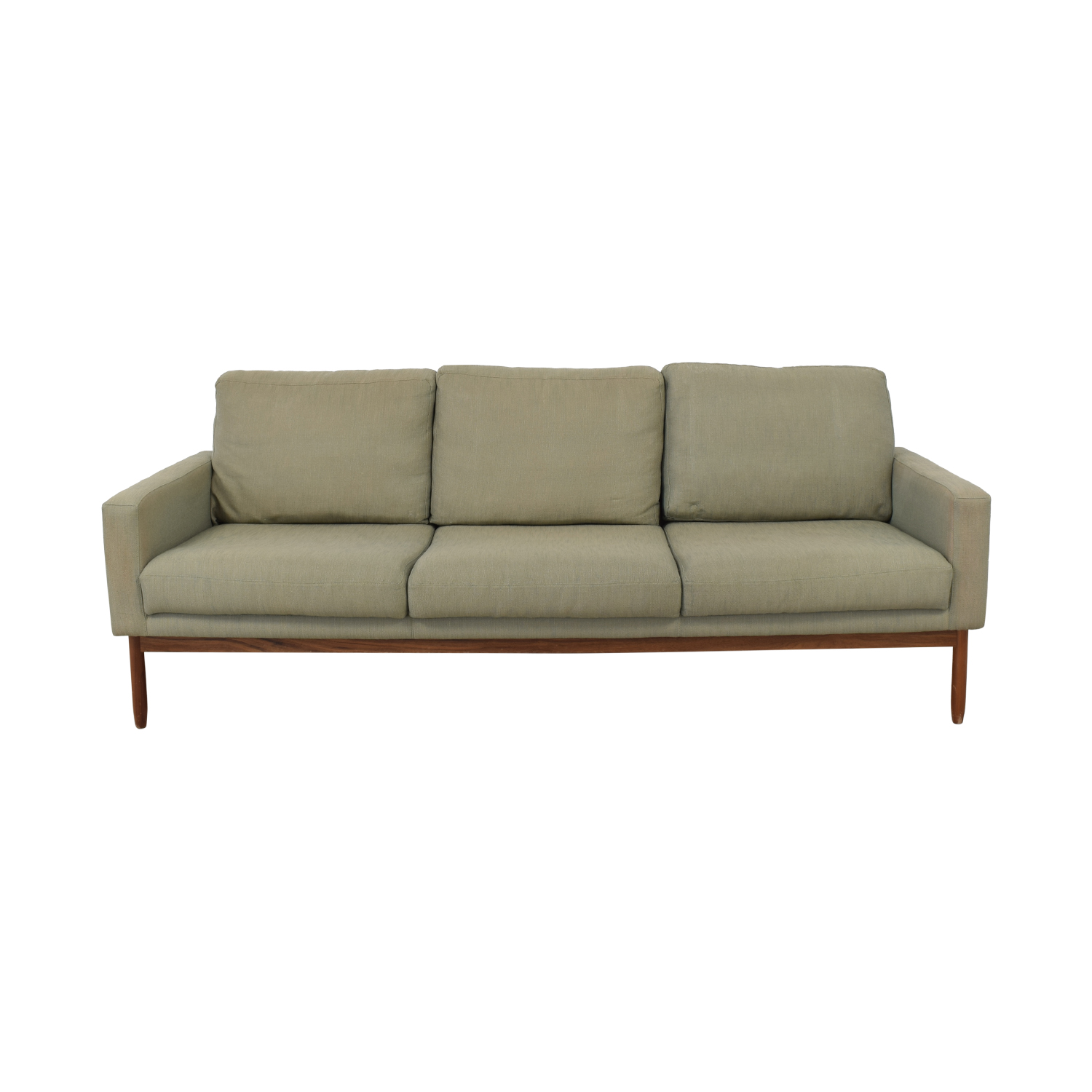 buy Design Within Reach Raleigh Grey Three-Cushion Sofa Design Within Reach Sofas