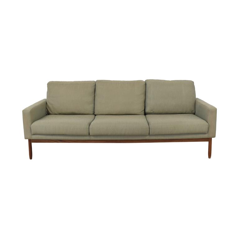 shop Design Within Reach Design Within Reach Raleigh Grey Three-Cushion Sofa online