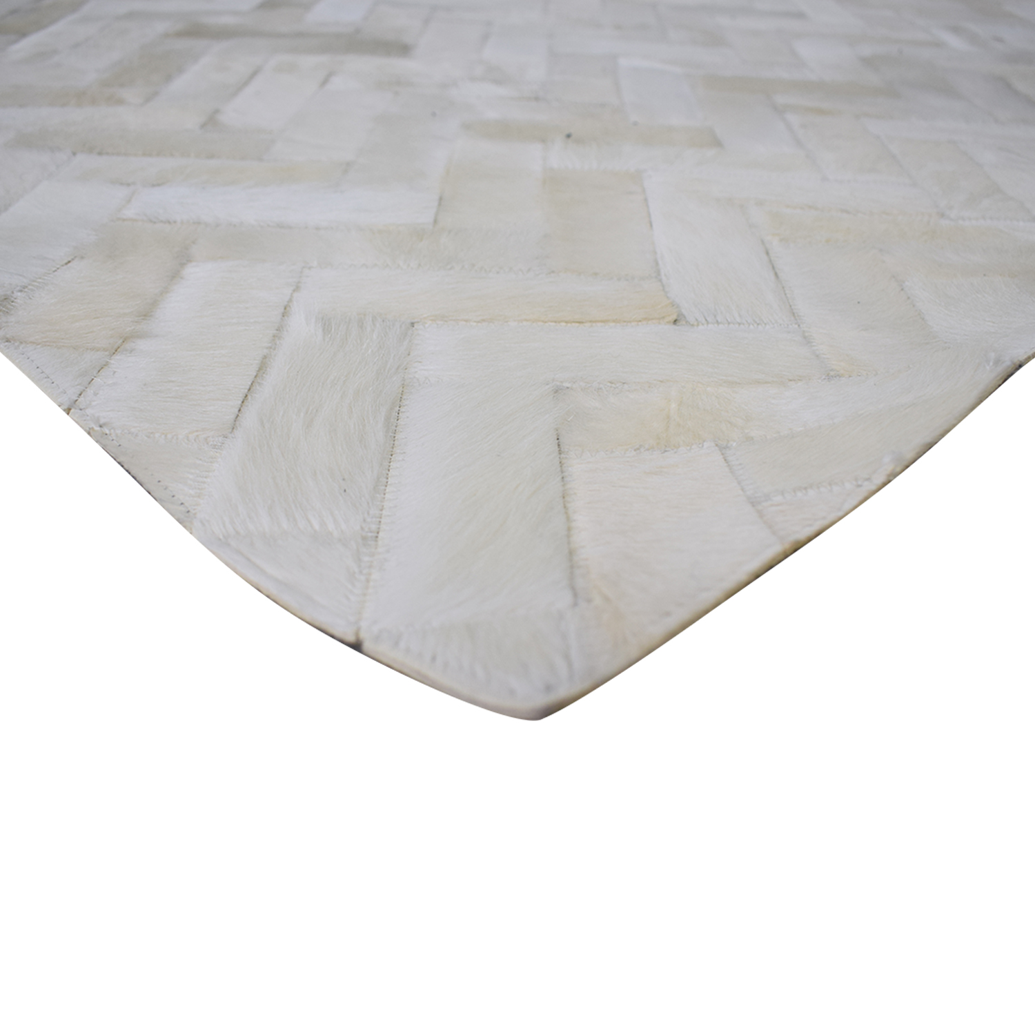 West Elm West Elm Pieced + Patched Cowhide Rug nyc