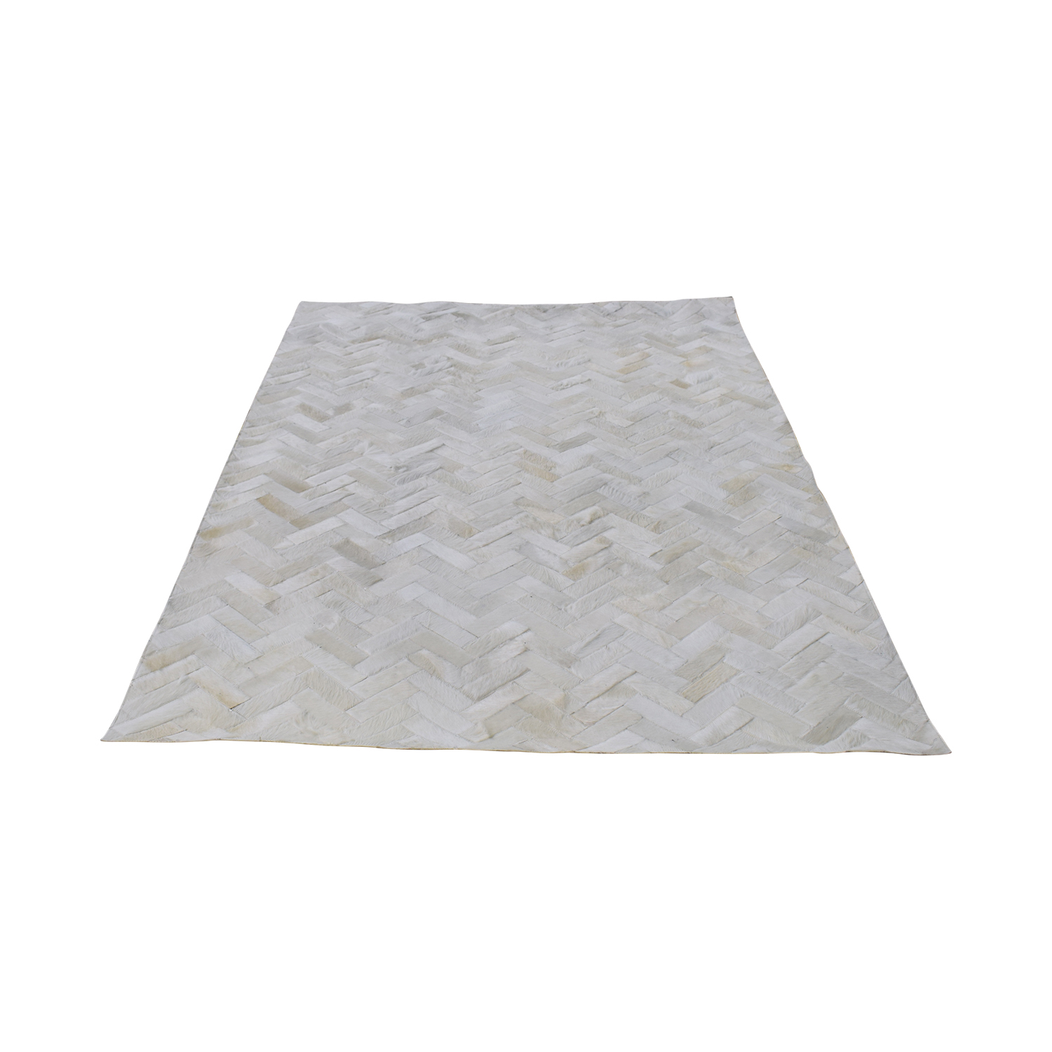 West Elm Pieced + Patched Cowhide Rug / Rugs