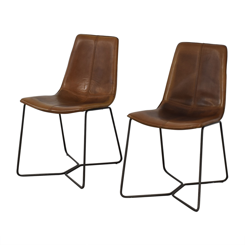 West Elm West Elm Brown Dining Chairs brown