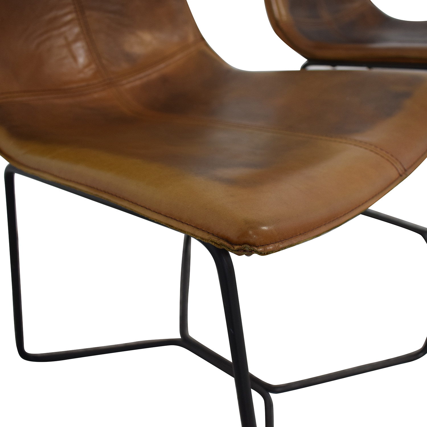 West Elm West Elm Brown Dining Chairs discount