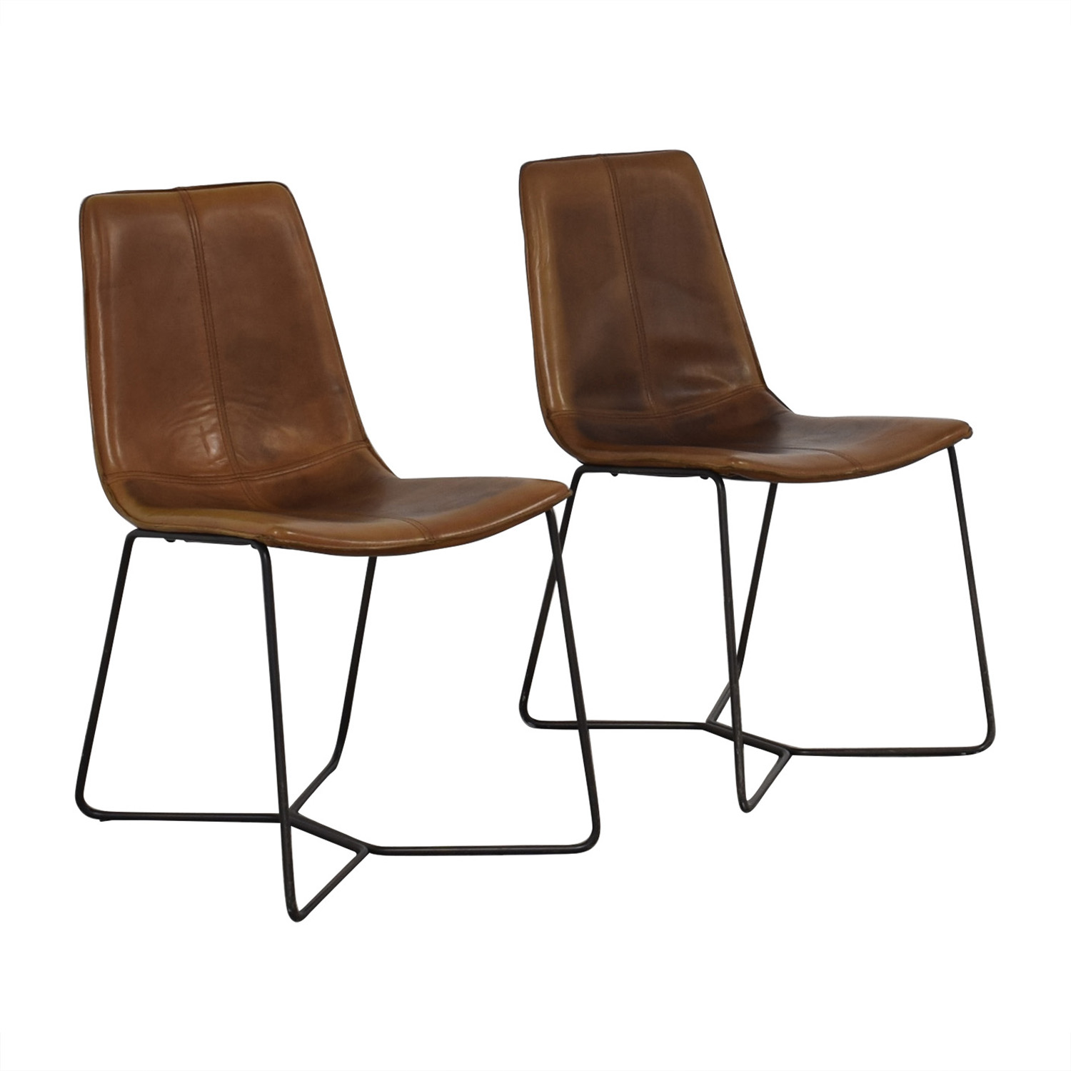 West Elm West Elm Brown Dining Chairs on sale