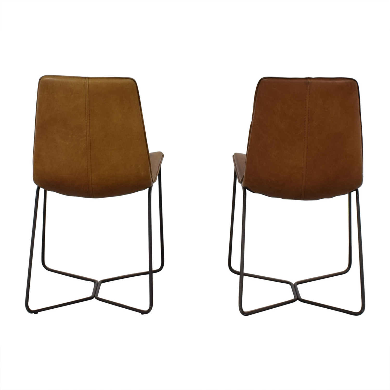 West Elm West Elm Brown Dining Chairs second hand