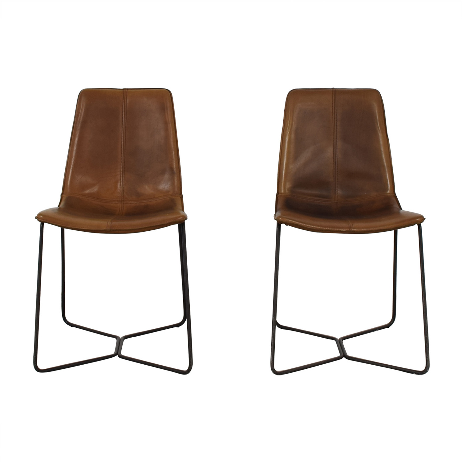 West Elm West Elm Brown Dining Chairs Dining Chairs
