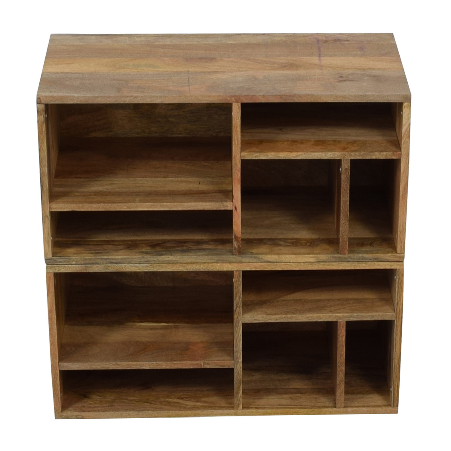 Urban Outfitters Urban Outfitters Raw Wood Bookshelves brown