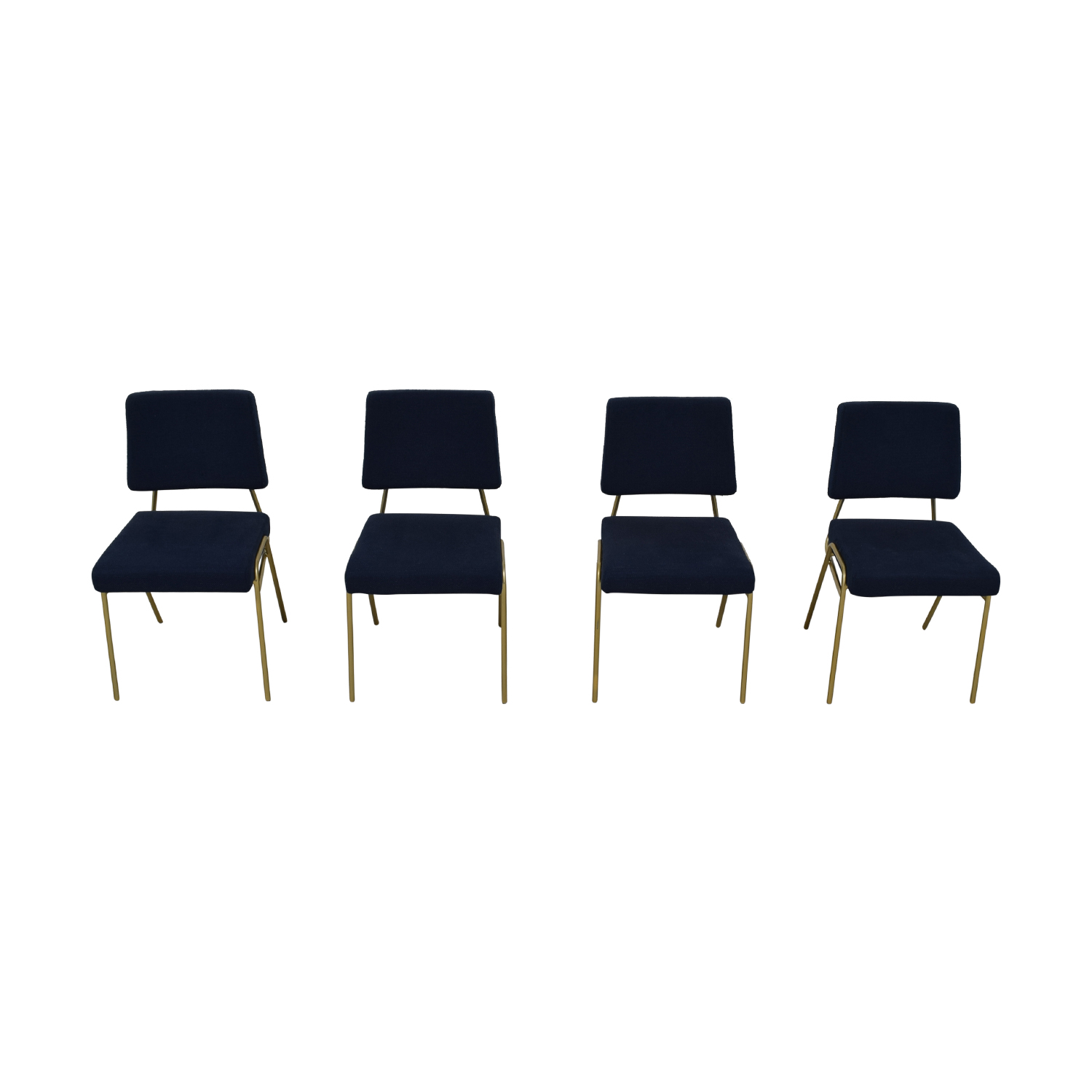shop West Elm Navy Blue Upholstered Dining Chairs West Elm Dining Chairs