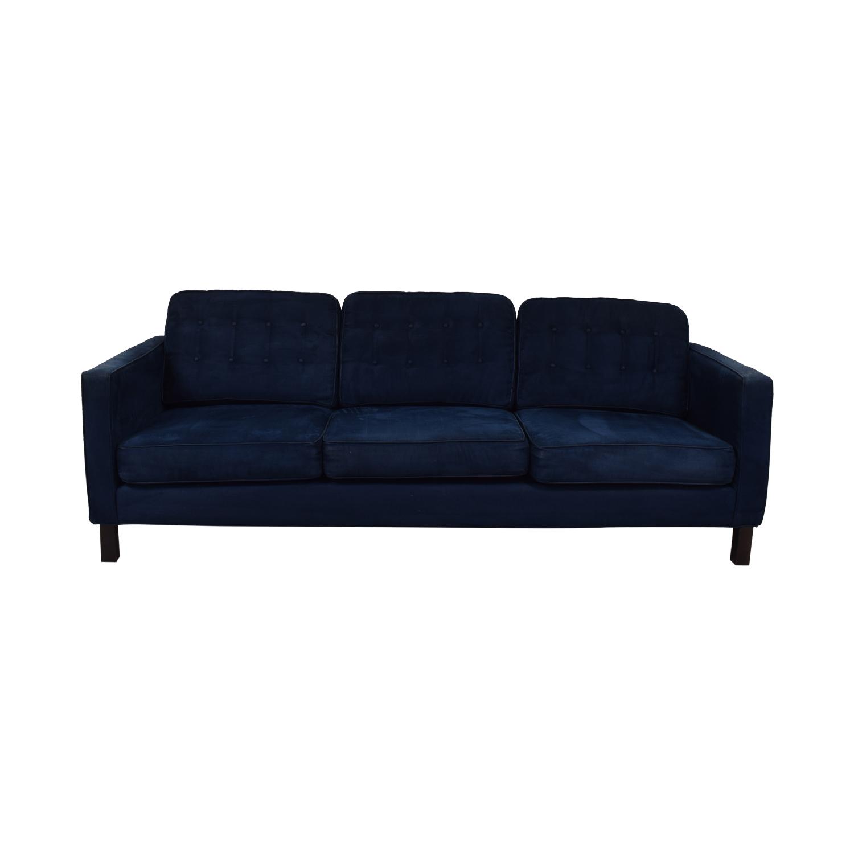 shop  Blue Tufted Three-Cushion Sofa online
