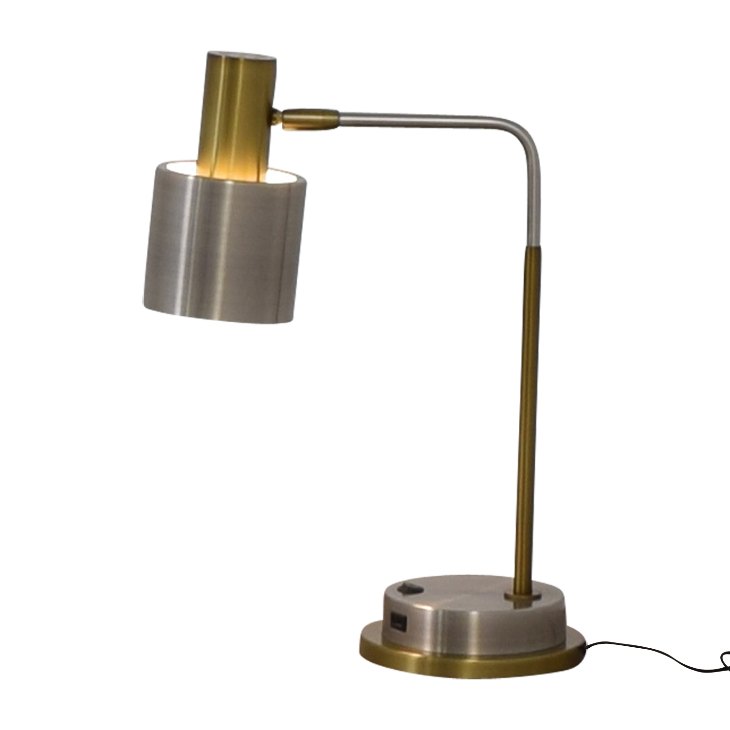 West Elm West Elm Metal Task Table Lamp with USB Port dimensions