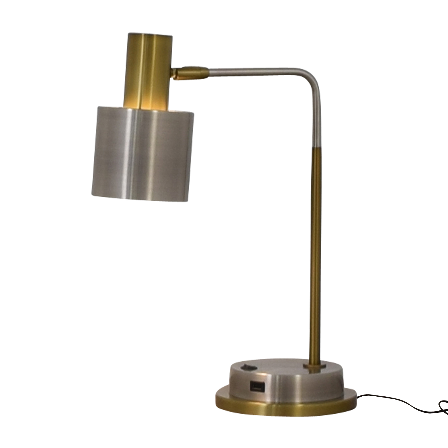 54 Off West Elm West Elm Metal Task Table Lamp With Usb