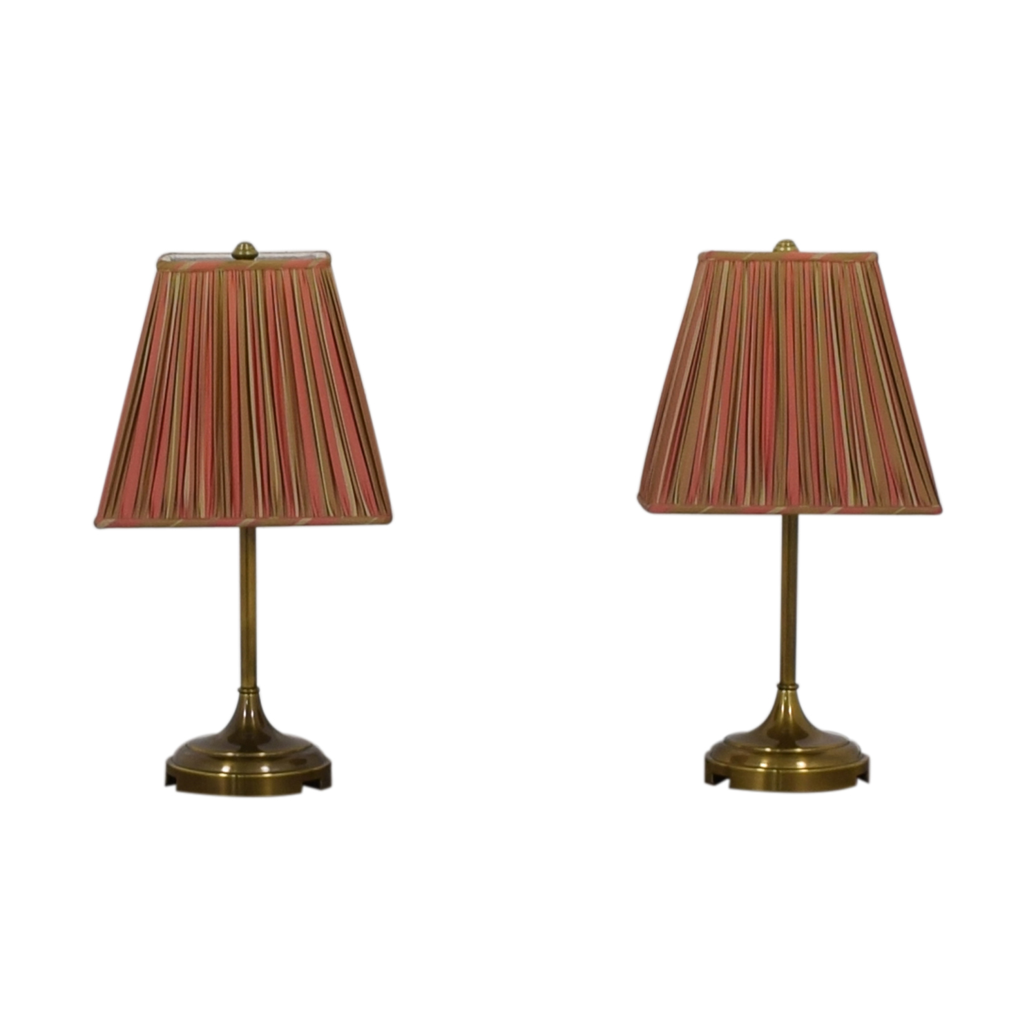 Pottery Barn Pottery Barn Striped Shade Brass Lamps used