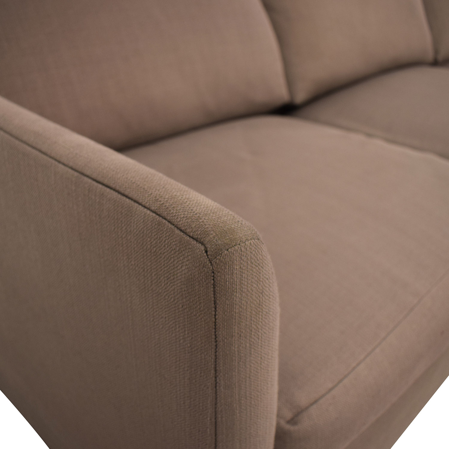 shop Crate & Barrel Crate & Barrel Grey Chaise Sectional online